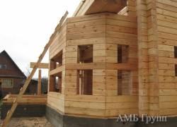 Построенные дома из бруса   АМБ-групп